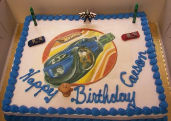 Carson had a Hot Wheels cake for his 6th birthday